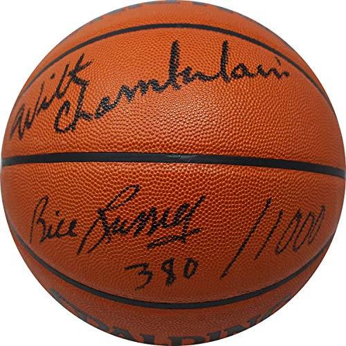 Wilt Chamberlain And Bill Russell Dual Signed NBA Basketball JSA