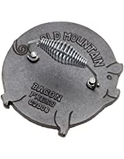 Old Mountain 78237 Cast Iron Pig Bacon Press, 7.5-Inch