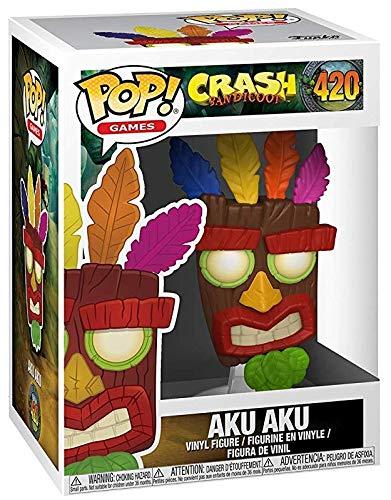Funko Pop! Games: Crash Bandicoot - Aku Aku Vinyl Figure (Includes Pop Box Protector Case)