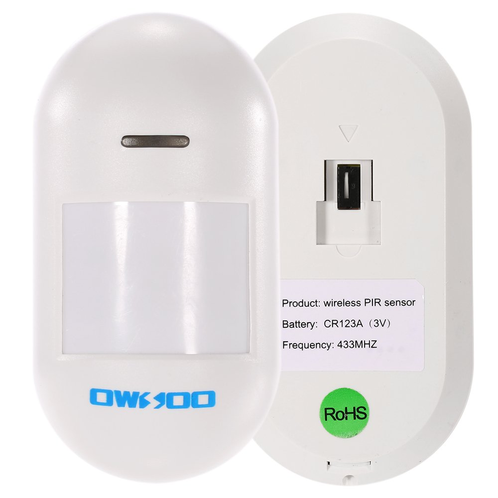 Owsoo 433mhz Wireless Pir Sensor Passive Infrared Based Alarm Secuirty System Detector For Security Electronics