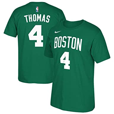 23c1ce2d6 Isaiah Thomas Boston Celtics NBA Nike Youth Green Name & Number Dri-Fit  Cotton T