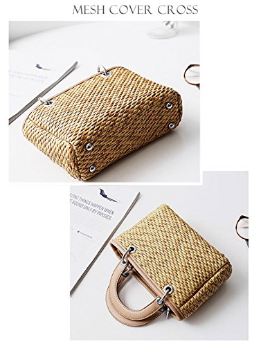 2 Bags Girl Straw Beach Fashion white Shoulder Handbag HopeEye Handmade Gift Crossbody White Bag Womens OzvzqgB