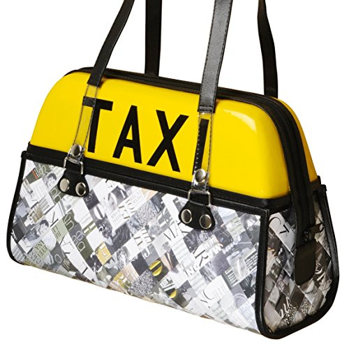 Handbag using real taxi rooftop light - FREE SHIPPING upcycled upcycling upcycle recycled reclaimed gift gifts bag vegan satchel tote handmade new york yellow cab ny central park 5th fifth - Ny Macys In