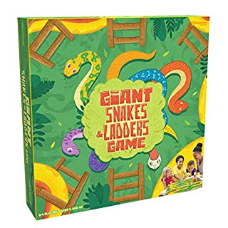 "Pressman Toys Giant Snakes & Ladders Game (4 Player), Multi-Colored, 5"" (1025-04)"