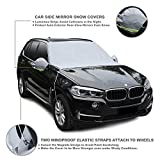"""NOSNOW Car Windshield Snow Cover,with Winter Ice,Frost Full Protection,Extra Large & Thick Windproof Design,83.4""""x48""""Fit for Most Vehicles"""