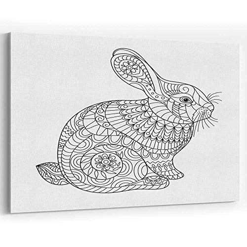Actorstion Easter Rabbit Coloring Page for Adult and Children 056518 Canvas Art Wall Dector,36