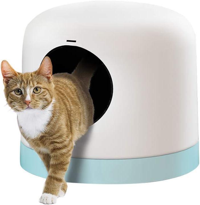 ZY Perro Bol Desmontable Arena for Gatos Caja de bandejas con Agujero Redondeado Diseño y Anti-Salpicaduras Aseo Gato (Color: Rosa) LOLDF1 (Color : White): Amazon.es: Hogar