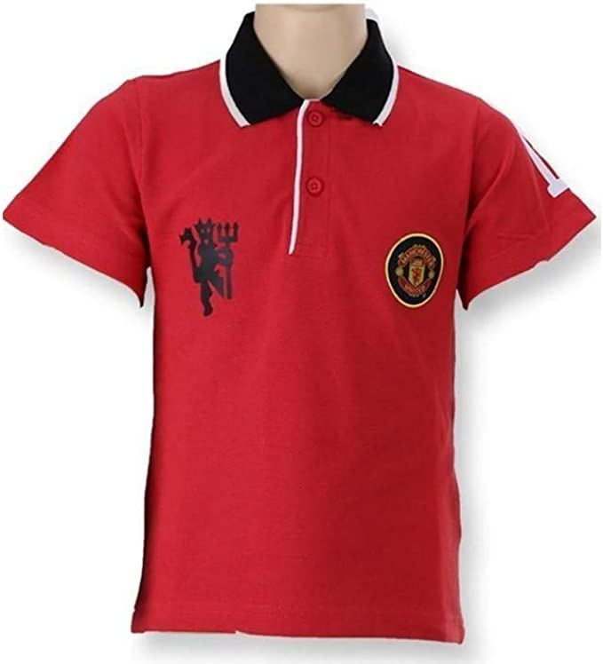 Manchester United Polo T Shirt Collar T Shirt Man Utd Fc Childrens Size 4 To 12 Years Official New Amazon Co Uk Clothing
