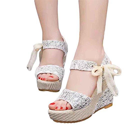 Floral High Open Sandals Sandals Jeff Flowers Heeled Tribble Sweet Wedge Women Shoes Buckle Toe Silver Platform XXzvqTp