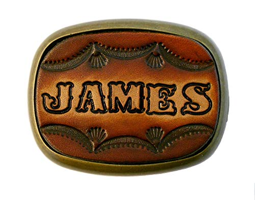 (Custom Tooled Leather Belt Buckle, MADE to ORDER, Names or Initials Up to 6 Letters)