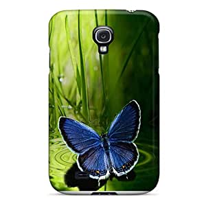 Premium [sYf738yXrp]blue Butterfly Case For Galaxy S4- Eco-friendly Packaging