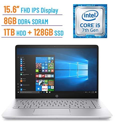 ch FHD (1920 x 1080) IPS Laptop PC (Intel Core i5-7200U 2.5GHz, 8GB DDR4 RAM, 128GB SSD + 1TB HDD, WiFi, Bluetooth, USB 3.1 Type-C, Backlit Keyboard, B&O Audio, Windows 10) ()