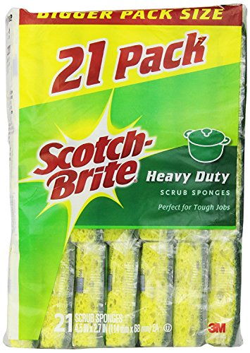 Scotch-Brite Heavy Duty Scrub Sponge vUvGtT, 84 Count by Scotch-Brite