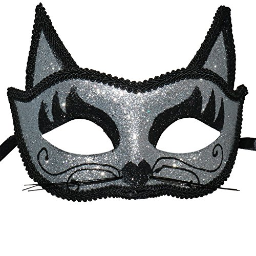 Women's Sexy Glitter Fancy Fox Lace Eye Mask Venetian Masquerade -