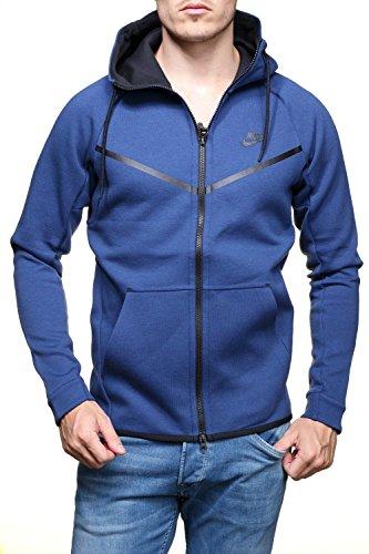 Nike Men Sport Jackets (Nike Men's Men's Sportswear Tech Fleece Windrunner Blue Hoodie 805144 423 (l))