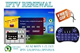 IPTV Subscription HTV HTV3 HTV5 A1 A2 Brazil Box A2 IPTVKINGS IPTV5+ IPTV6 IPTV6+ Tigre Tiger Brazilian One 1 Renew Code with Back Light Mini Keyboard