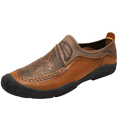 YXLONG Handgemachte Lederschuhe der Neuen Frühlingsmänner der Männer Arbeiten Beiläufige Schuhe der Art und Weisetendenz der Weichen Unterseite der Schuhe der Ersten Schicht der Ledernen Männer Um
