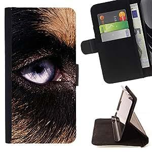Momo Phone Case / Flip Funda de Cuero Case Cover - Perro de pastor alemán Perro Lobo; - Samsung Galaxy E5 E500