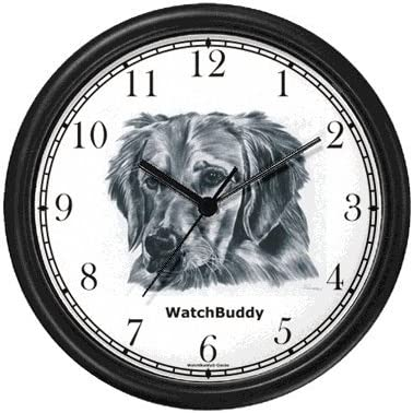 Golden Retriever Dog Wall Clock by WatchBuddy Timepieces White Frame