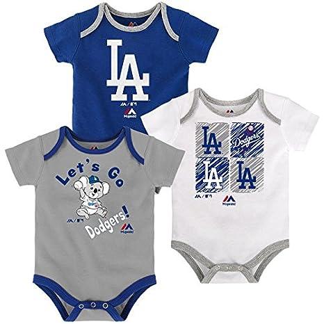 44420ca26 Amazon.com  Los Angeles Dodgers Baby Infant Go Team 3 Piece Creeper ...