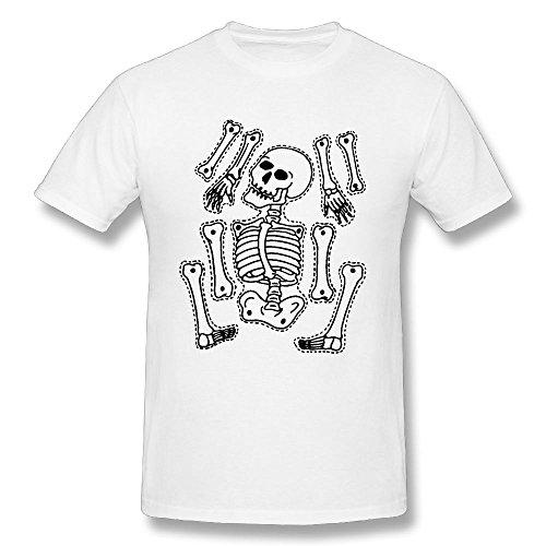 Halloween Skull Skeleton Men's Short-Sleeve T-Shirt Round Neck Tshirts Character Graphics Tees Funny