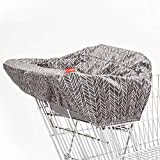 Skip Hop Shopping Cart and Baby High Chair Cover, Take Cover, Grey Feather