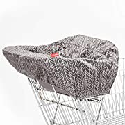 Shopping Cart and Baby High Chair Cover, Take Cover, Grey Feather