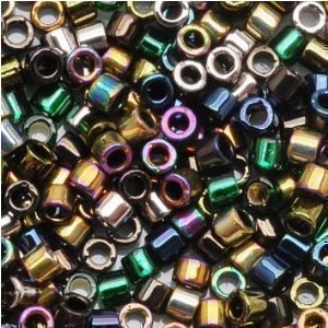 - Miyuki Delica Seed Beads Mix 11/0 Heavy Metals Metallic Iris Gold 7.2 Grams