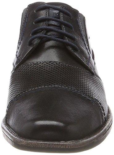 Derby para Hombre de Zapatos Josef Cordones 17 Seibel Schwarz 101 kombi Andrew Negro Wnw8qI80Y