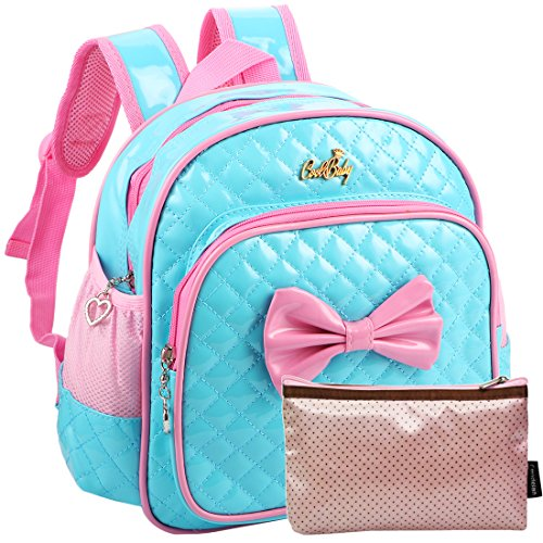 kilofly Kids Preschool Kindergarten Little Girl School Backpack + Zippered Pouch for $<!--$17.99-->