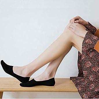 Calcetines Bajos Mujer Calcetines Tobilleros para Deporte e Casual 5 Pares Calcetines Invisibles Mujer Algod/ón Calcetines Cortos Con Silicona Antideslizante