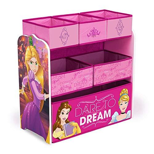 Delta Children Multi-Bin Disney Princess Toy - Storage Princess Dresser