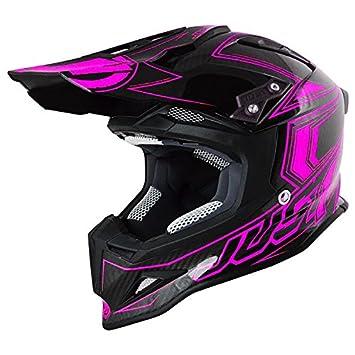 Just 1 Helmets J12 Casco de Motocross, Negro/Rosa, S