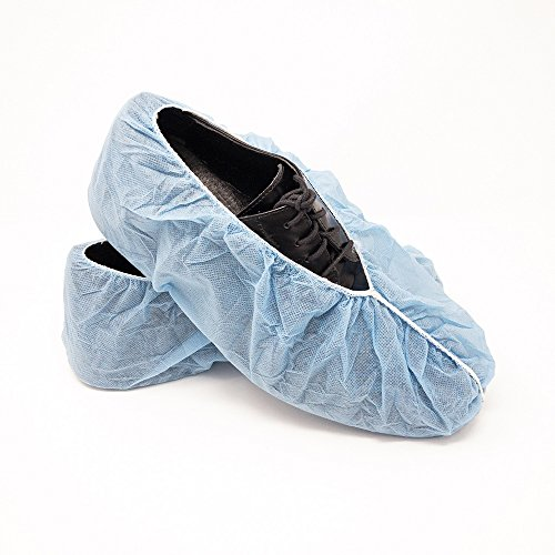 Innovative Haus Premium Thick Extra Large Disposable Boot & Shoe Covers | Durable, Non-Slip,Treads, Water Resistant, Non-Toxic,100% Latex Free | Stronger than Competitor-40 grams | 100-Pack Blue | by Innovative Haus (Image #5)