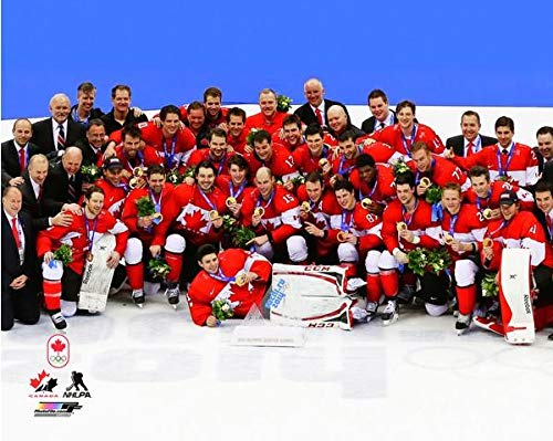 2014 Olympic Gold Medal - Team Canada Mens Olympic Hockey Team 2014 Winter Olympics Gold Medal Photo Print Size: (16 x 20)