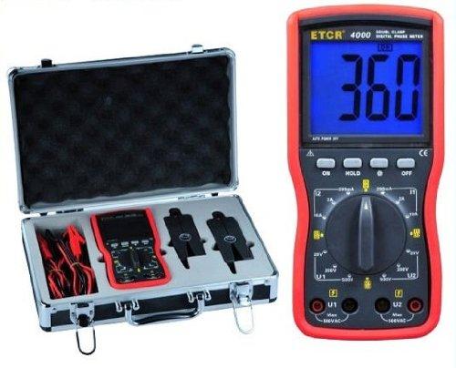 Gowe Ditigal Double Clamp Phase Volt-Ampere Meter, Measuring range: 0~360¡ã; 0~200mA/2A/10A; 0~20V/200V/500V, Clamp mouth: ¦Õ7.5mm (¦Õ40mm )