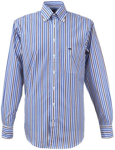 Hatton Fynch Hemd 122-5600 Blau/Braun
