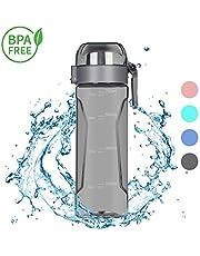 Nomisty Trinkflasche Sport, Wasserflasche Auslaufsicher,700ML Sportflasche BPA frei,Sporttrinkflaschen für Sport, Fitness, Fahrrad, Fußball, Outdoor (Rosa)