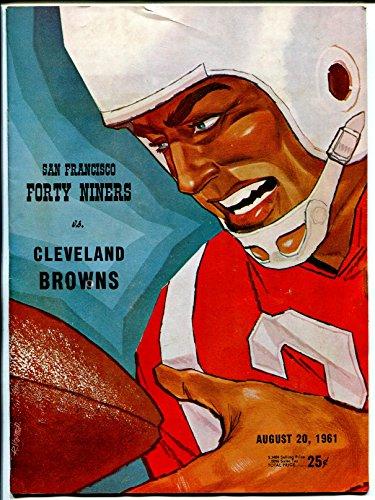 San Francisco 49ers Brown Football - San Francisco 49ers NFL Football Program-Cleveland Browns-8/20/1961-pix-VG