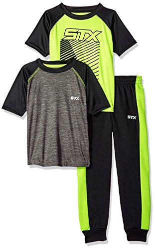 STX Baby Boys 3 Piece Short Sleeve Tees and Jogger Set