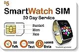 $5 Smart Watch SIM Card for 2G 3G 4G LTE GSM