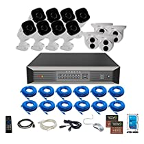 Revo America Ultra Plus Commerical Grade 16CH 4K H.265 NVR,  4 TB Surveillance Grade HDD, Remote Access, with 8x IR Bullet & 4x IR Turret Cameras, 4 Megapixel,  Indoor/Outdoor, True WDR.