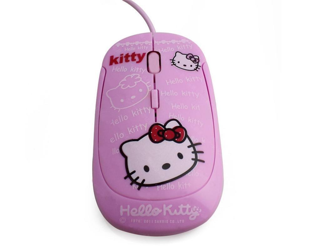 Dibujos animados ratón ratón ultrafina de Hello Kitty Cat Rosa wired pink: Amazon.es: Informática