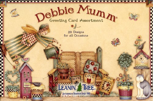 Debbie Mumm Country Greeting Card Assortment by Leanin' Tree - 20 cards with full-color interiors and 22 designed envelopes (Leanin Tree Boxed Cards)