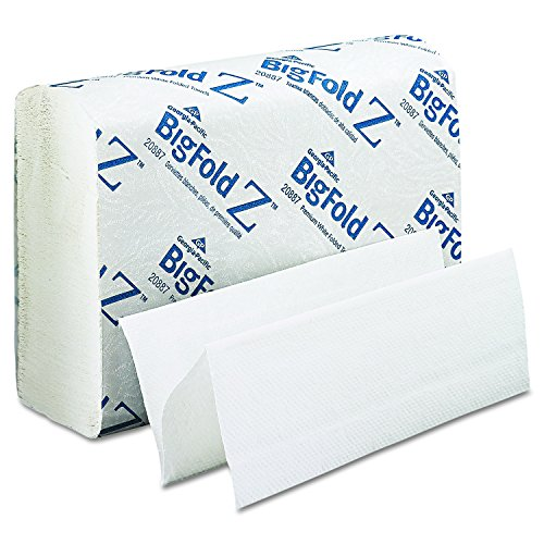 Towel Bigfold Z-fold (Georgia Pacific Professional 20887 BigFold Paper Towels, 10 1/5 x 10 4/5, White, 220 per Pack (Case of 10 Packs))