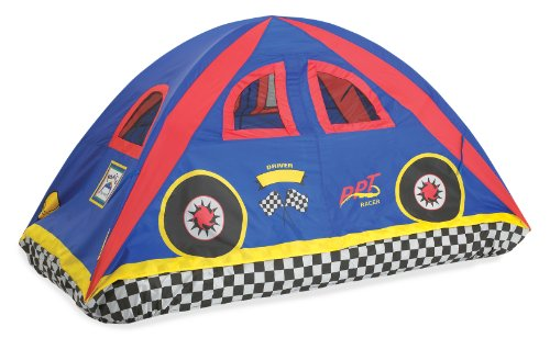 - Pacific Play Tents 19710 Kids Rad Racer Bed Tent Playhouse - Twin Size