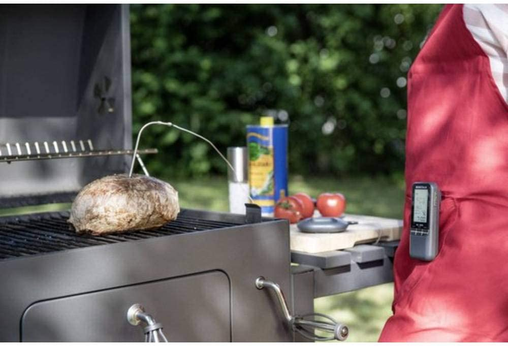 Basetech Einstichthermometer BK-BBQ Messbereich Temperatur 0 bis 250°C Funkübert