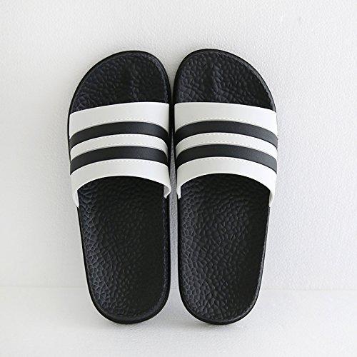 DogHaccd Zapatillas,Zapatillas de verano masculino anti-olor suave luz del interior de las viviendas estancia inferior baños y un par de zapatos antideslizantes son frescas y la chica Negro4