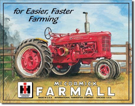 "TSFD Art/Artwork - Licensed Collectibles - Agriculture/Farming/Farm Equipment [825] -""Farmall M - Artwork/Sign is Paint On Metal"