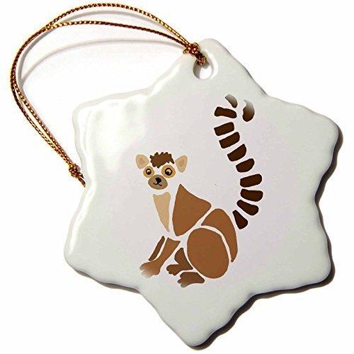 Funny Christmas Snowflake Ornaments Funny Artistic Lemur Abstract Art Original Holiday Xmas Tree Hanging Ornaments Decoration Gifts